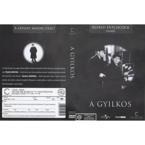 A gyilkos (Hitchcock) (DVD)