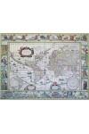 Világtérkép 1641. (Antik dekorációs falitérkép)