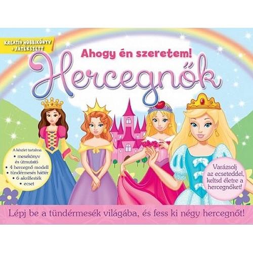 Hercegnők - Lépj be a tündérmesék világába, és fess ki négy hercegnőt! - Kreatív doboz