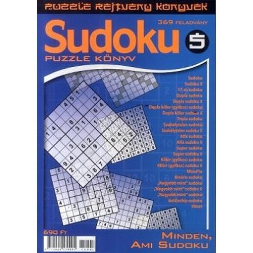 Sudoku 5. - Puzzle rejtvény könyvek - Minden, ami Sudoku