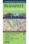 Budapest és környéke hajtogatott várostérkép 1:21500