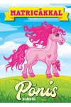 Pónis kifestő matricákkal (borító: rózsaszín póni)