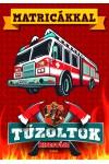 Tűzoltók kifestője matricákkal