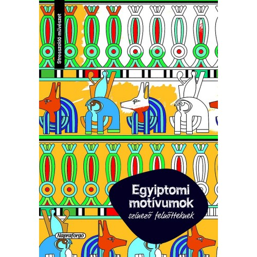 Egyiptomi motívumok (felnőtt színező)