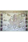 Európa 1641 (Antik dekorációs falitérkép)