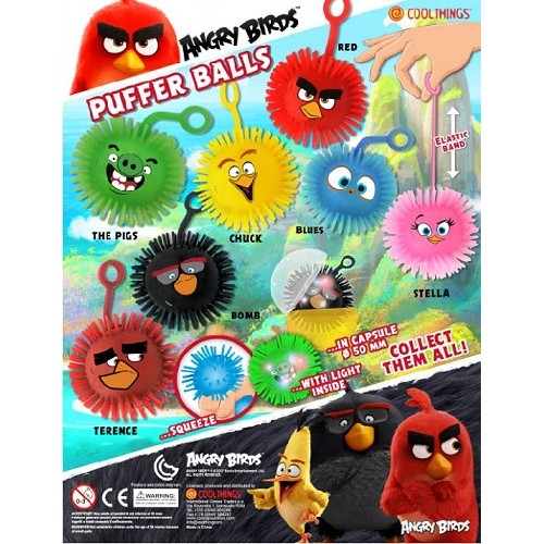 Játék - Angry Birds - Világítós tüsilabda