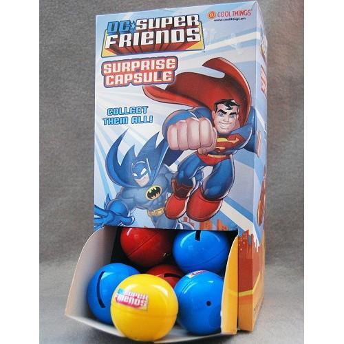 Játék - Super Friends (DC szuperhősök) - Radír függesztőzsinórral - 30 db egy dobozban