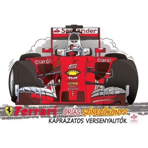 Káprázatos versenyautók - Ferrari óriás színezőkönyv