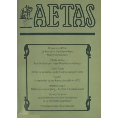 Aetas Történettudományi folyóirat 2002/2-3