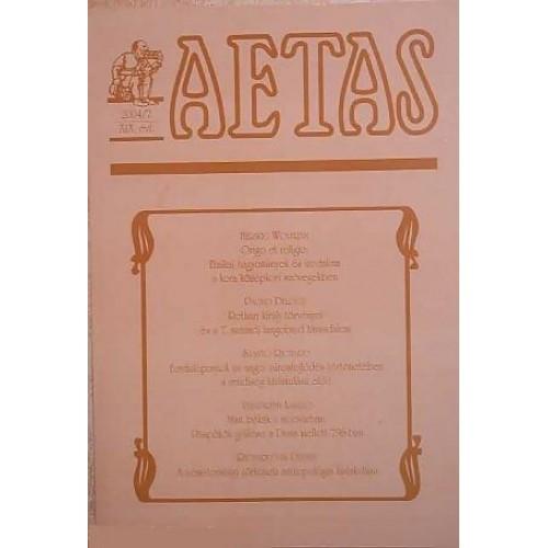 Aetas Történettudományi folyóirat 2004/2