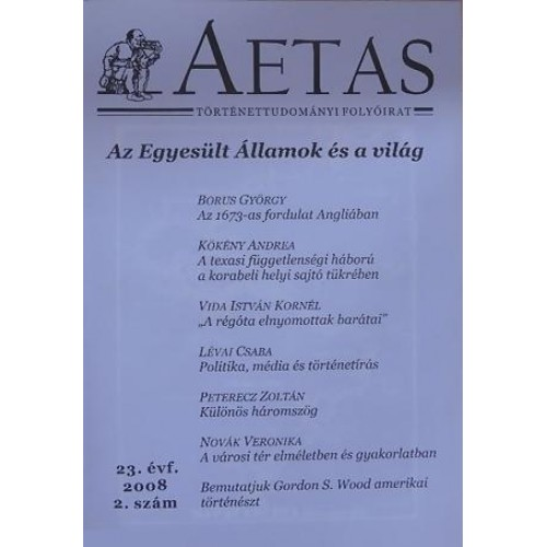 Aetas Történettudományi folyóirat 2008/2