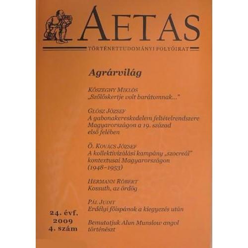 Aetas Történettudományi folyóirat 2009/4