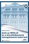 32. Amit az MFB-ről és a kisvállalkozások támogatásáról tudni kell
