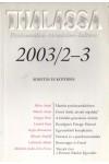 Thalassa 2003/2-3 Alkotás és kötődés