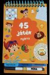 45 játék nyárra - Rejtvények, fejtörők, labirintusok