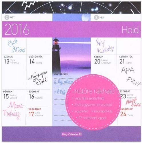 Hold 2016 mágneses naptár 22X22