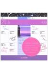 Hold 2016 mágneses naptár 22X22, Lizzy Card kiadó, Naptárak