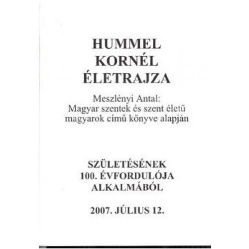 Hummel Kornél életrajza