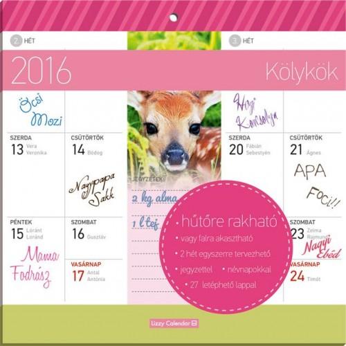 Kölykök 2016 mágneses naptár 22X22