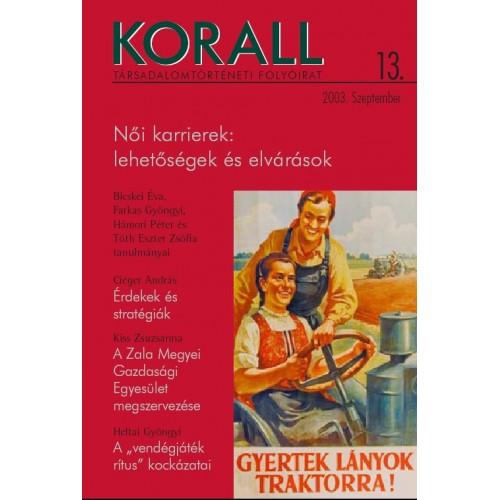 Korall Társadalomtörténeti Folyóirat 2003/13.