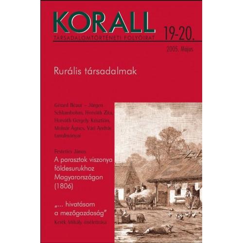 Korall Társadalomtörténeti Folyóirat 2005/19-20.