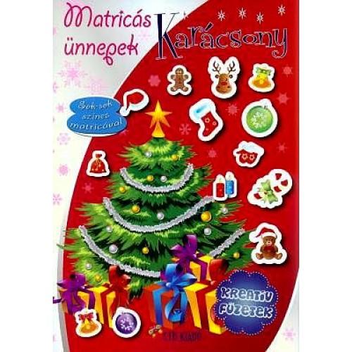 Kreatív füzetek - Matricás ünnepek: Karácsony