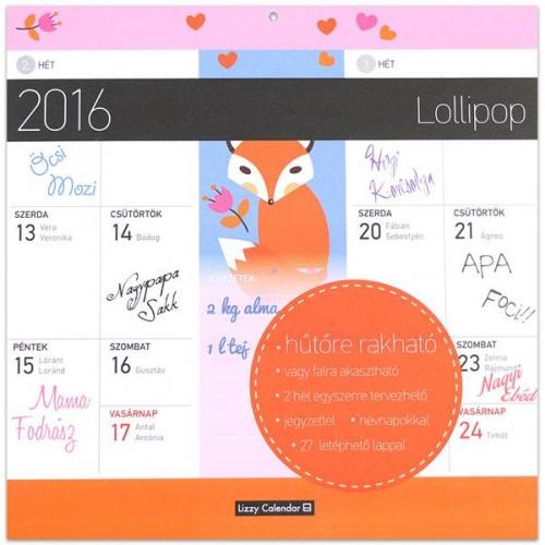 Lollipop 2016 mágneses naptár 22X22