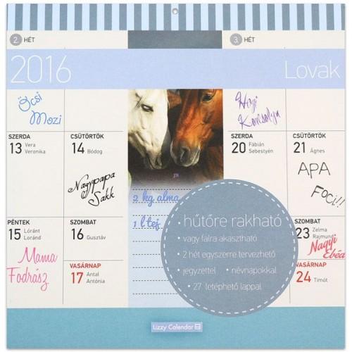 Lovak 2016 mágneses naptár 22X22