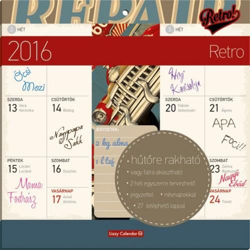 Retro 2016 mágneses naptár 22X22