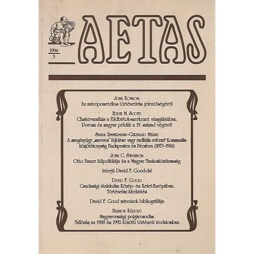 Aetas Történettudományi folyóirat 1994/3