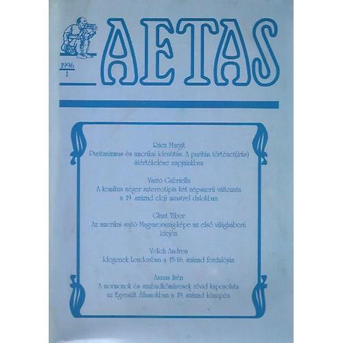 Aetas Történettudományi folyóirat 1996/1