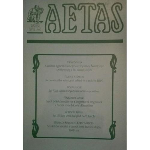 Aetas Történettudományi folyóirat 2003/2