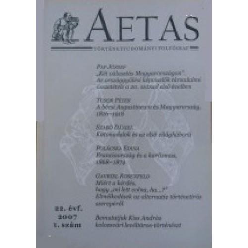 Aetas Történettudományi folyóirat 2007/1