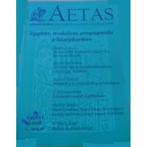 Aetas Történettudományi folyóirat 2008/1