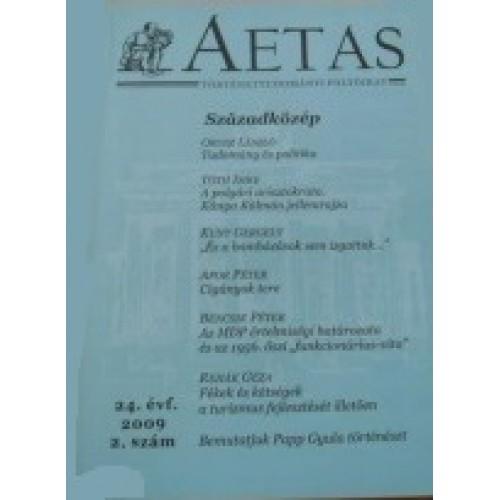 Aetas Történettudományi folyóirat 2009/2