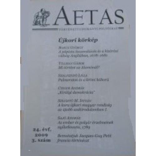 Aetas Történettudományi folyóirat 2009/3