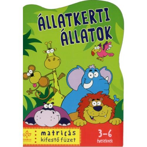 Állatkerti állatok - Matricás kifestőfüzet 3-6 éveseknek