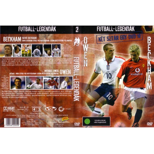 Futball-legendák: Owen, Beckham (DVD)