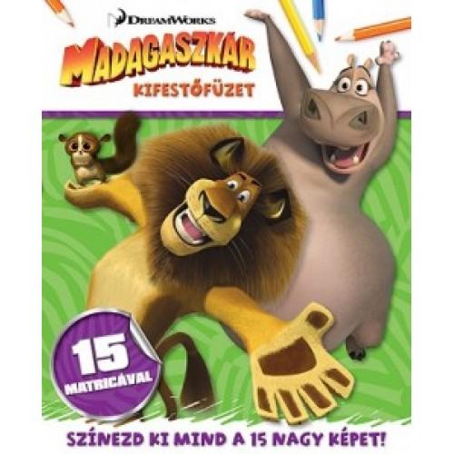 Madagaszkár - Kifestőfüzet matricákkal - DreamWorks