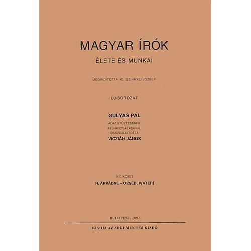 Magyar írók élete és munkái XIX.