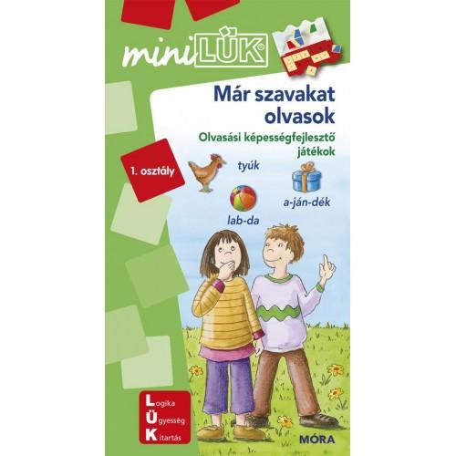 Már szavakat olvasok 1. osztály - Olvasási képességfejlesztő játékok - MiniLÜK