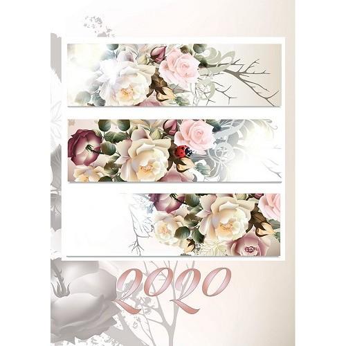Határidőnapló (Rózsa) - Zsebnaptár 2020