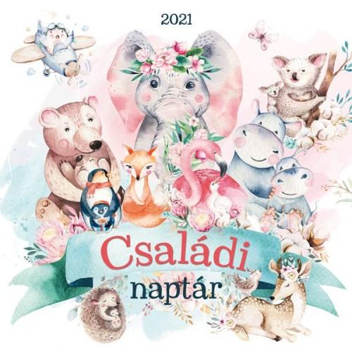 Állatos, mesés családi naptár - 37257 (nagy) 2021