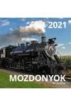 Mozdonyok - Képes falinaptár (nagy) 2021
