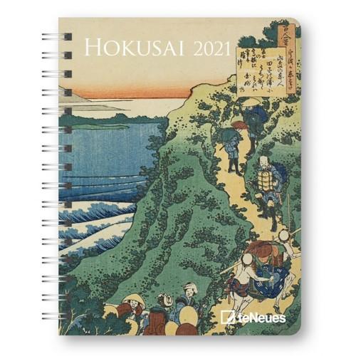 Spirálos heti határidőnapló (Hokusai) - Zsebnaptár 2021
