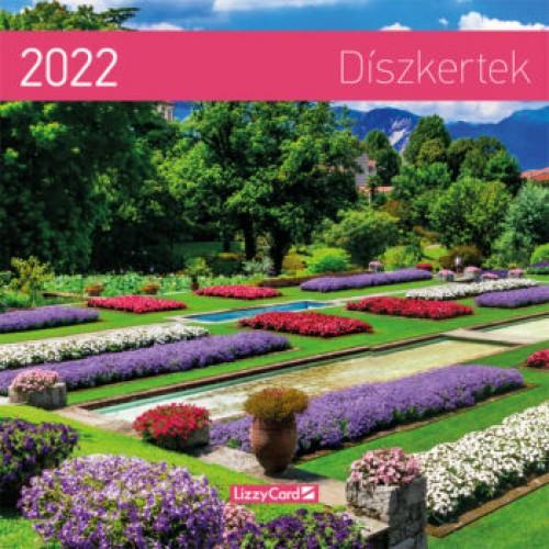 Díszkertek - Képes falinaptár (kicsi) 2022