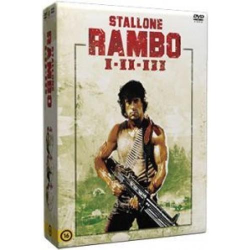 Rambo trilógia - Stallone(3 DVD)