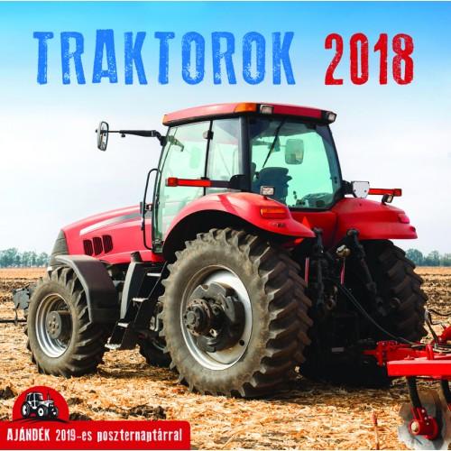 Traktorok falinaptár 2018