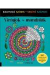 Virágok és mandalák - Ragyogó színek - segítő számok (Felnőtt színező)